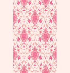 Pink pattern with damask vector