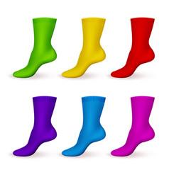 Realistic color socks modern male or female vector
