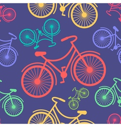 Retro hipster styled different colored bycicles vector