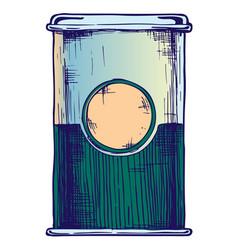 retro packaging vector image