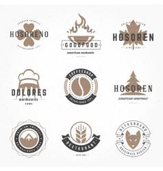 Retro Vintage Logotypes or insignias Hand drawn vector image