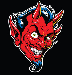 Rockabilly devil tattoo in ful vector