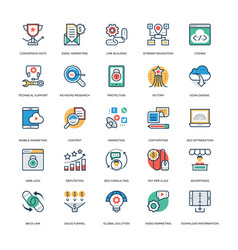 Seo and marketing icons 30 vector