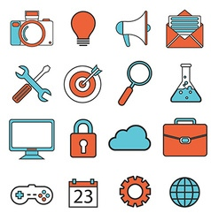 Set of universal modern thin line icons for web vector