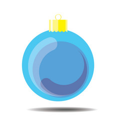 sky blue christmas ball vector image