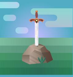 Sword in stone vector