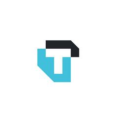 T letter mark logo icon vector