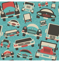 Toys cars traffic print vector