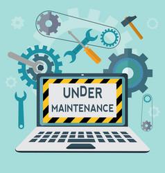 Under maintenance concept vector