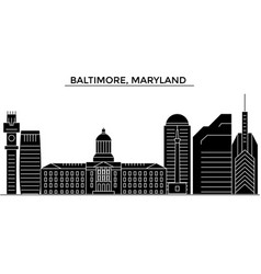 Usa baltimore maryland architecture city vector