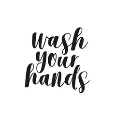 Wash your hands lettering health care poster vector