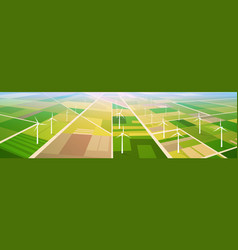 Wind turbine energy renewable station field vector
