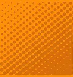 halftone dots on orange background vector image vector image