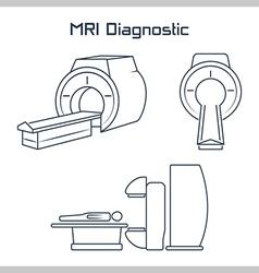 MRI diagnostic icons vector image