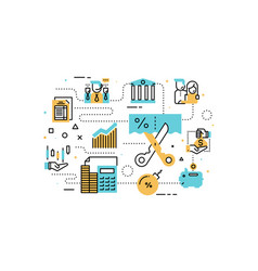 taxs and finance vector image