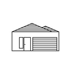 thin line house icon vector image