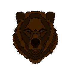 a bear s head graphics vector image