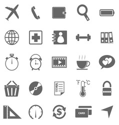 Application icons on white background Set 2 vector image vector image