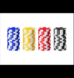 chips columns cartoon style isolated vector image vector image