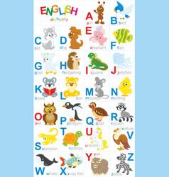 english alphabet vector image vector image