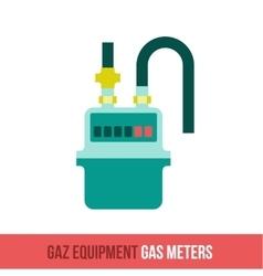 flat icon gas equipment vector image