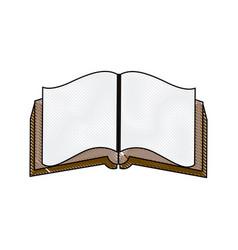 open book literature encyclopedia learn vector image vector image