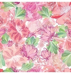 Soft Romantic Pattern with Lily and Lotus vector image