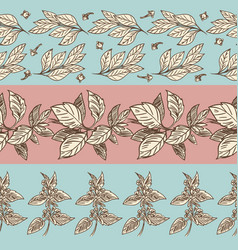 Spices seamless pattern collection vector