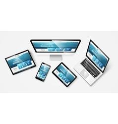 Web design 1 vkr vector image vector image