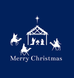 christmas scene of jesus in the manger vector image