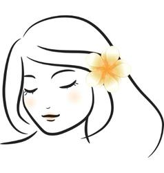 frangipani flower vector image vector image