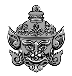 Giant mask of Thailand Travel vector image