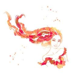 portrait of beautiful women vector image vector image