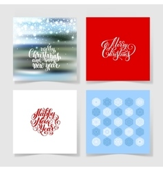 set of christmas decoration background snowflake vector image vector image