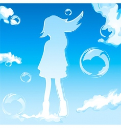 sky girl vector image vector image