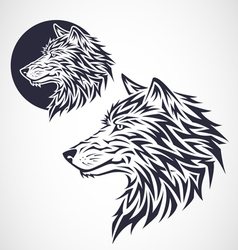 Wolf Emblem vector image vector image