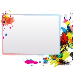 abstract art design with frame vector image vector image