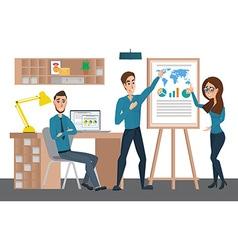 Business professional work team Training staff vector image