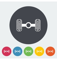 Chassis car single flat icon vector image