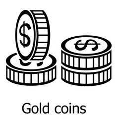 coin icon simple black style vector image vector image