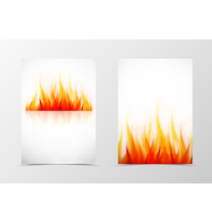 Front and back fire flyer template design vector image vector image