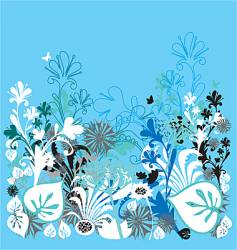 garden of earthly delights blue vector image