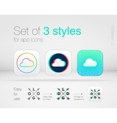 Graphic styles for app icons vector image vector image