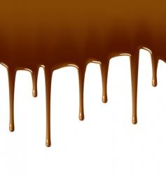 milk chocolate drips vector image