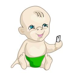 selfie baby vector image