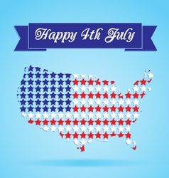 4th july card vector