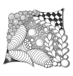 Abstract monochrome zentangle ornamen vector