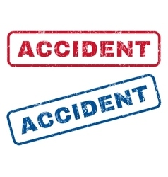 Accident Rubber Stamps vector