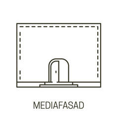 advertisement banner on wall media facade vector image