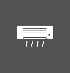 air conditioning icon on dark background vector image
